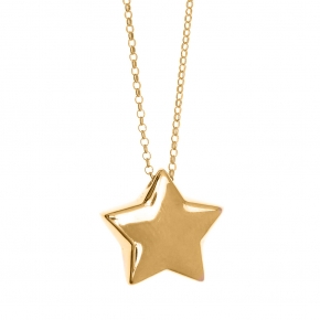 Necklace silver 925 gold plated - WANNA GLOW