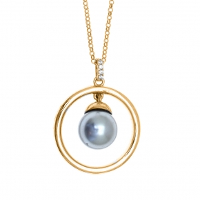 Necklace in silver 925 gold plated with shell pearls - Simply Me
