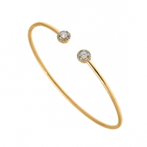 Bracelet silver 925 gold plated with white zirconia - Simply Me