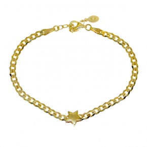 Bracelet silver 925 gold plated - WANNA GLOW