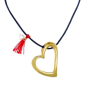 Necklace in silver 925 gold plated with cord - Simply Me