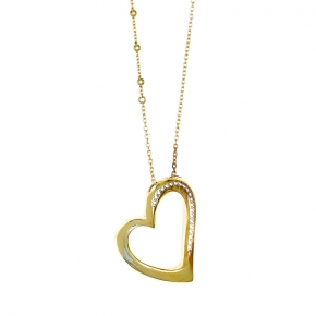 Necklace in silver 925 gold plated with synthetic stones - WANNA GLOW