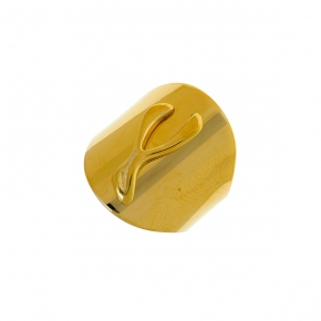 Ring silver 925 gold plated with synthetic stones - WANNA GLOW