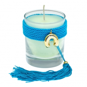 Lucky charm candle with motif made of metal - Wish Luck