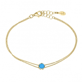 Bracelet in silver 925 gold plated with turquoise - Simply Me