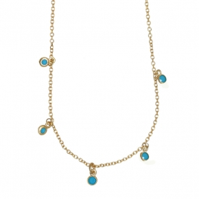Necklace in silver 925 gold plated with turquoise - Simply Me