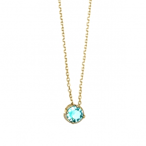 Necklace in silver 925 gold plated with zirconia - Simply Me