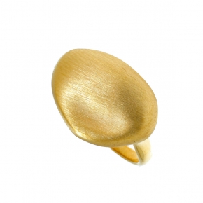 Ring in silver 925 gold plated - Funky Metal