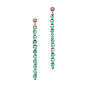 Earrings in silver 925 rose gold plated with zirconia - Color Me
