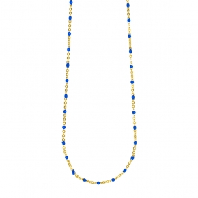 Necklace silver 925 yellow gold plated with enamel and white zirconia - Color Me