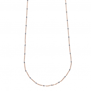 Necklace silver 925 yellow gold plated with enamel - Color Me