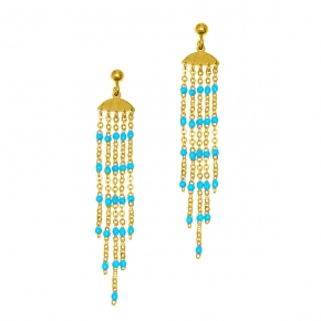 Earrings silver 925 yellow gold plated with enamel - Color Me
