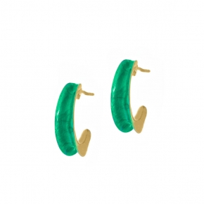 Earing silver 925 yellow gold plated with enamel - Color Me