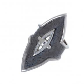Ring silver 925  black rhodium - Funky Metal
