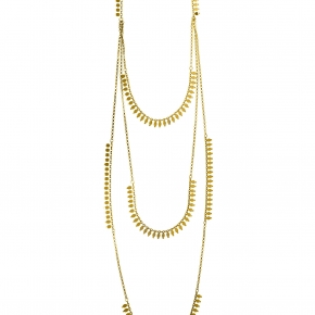 Necklace in silver 925 yellow gold plated - Simply Me