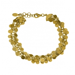 Bracelet in silver 925 yellow gold plated - Simply Me