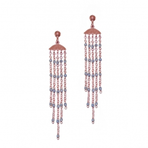 Earing silver 925 rose gold plated with enamel - Color Me