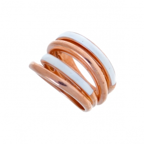 Ring silver 925 ροσε gold plated with enamel - Color Me