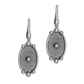 Earing silver 925  black rhodium - Funky Metal