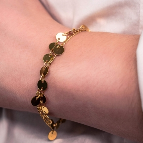 Bracelet metal yellow gold plated - Funky Metal