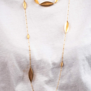 Necklace in silver 925 gold plated - Funky Metal
