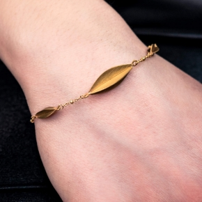 Bracelet in silver 925 gold plated - Funky Metal