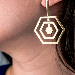 Earrings silver 925 gold plated - Funky Metal