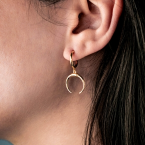 Earrings in silver 925 gold plated - Simply Me