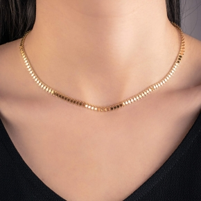 Necklases in silver 925 yellow gold plated - Simply Me