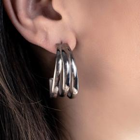 Earrings silver 925 rhodium plated - Funky Metal