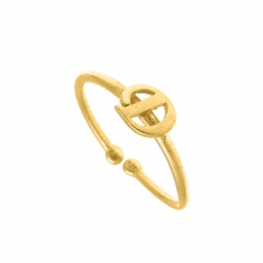 Ring silver 925 yellow gold plated - Simply Me