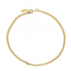 Bracelet silver 925 yellow gold plated  plated - Funky Metal