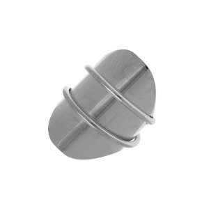 Ring silver 925 rhodium plated - Funky Metal