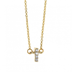 Necklace gold 14 carats with zirconia - My Gold