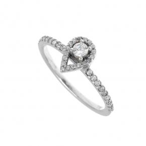 Ring gold K14 carats with zirconia - My Gold