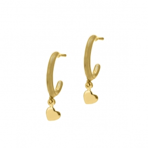 Earrings in silver 925 yellow gold plated - Simply Me