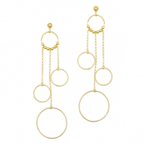 Earrings in silver 925 yellow gold plated - Funky Metal