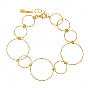 Bracelet in silver 925 yellow gold plated - Funky Metal