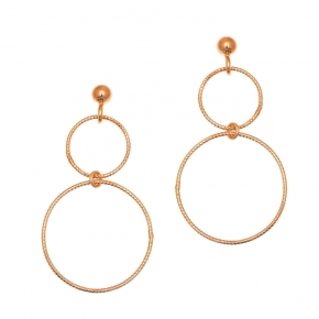 Earrings in silver 925 rose gold plated - Funky Metal