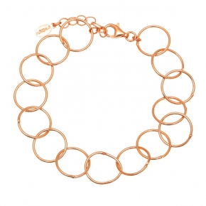 Bracelet in silver 925 rose gold plated - Funky Metal