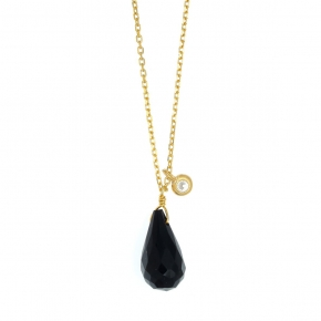 Necklace in silver 925 gold  plated with colored crystal - Color Me