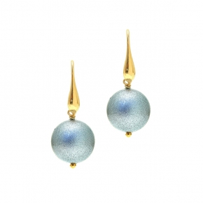 Earings silver 925 yellow gold plated with enamel stones - Color Me