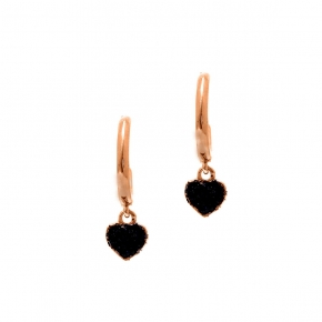 Earings silver 925 rose gold plated with glitter - WANNA GLOW