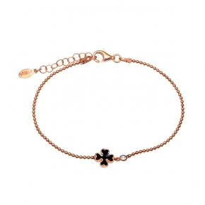 Bracelet silver 925 rose gold plated with zirconia and glitter - WANNA GLOW