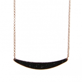 Necklace silver 925 pink gold plated with glitter - WANNA GLOW