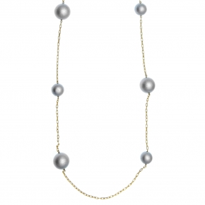Necklace silver 925 yellow gold plated with enamel stones - Color Me