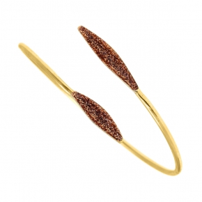 Bracelet silver 925 yellow gold plated with glitter - WANNA GLOW