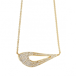 Necklase silver 925 yellow gold plated with zirconia - WANNA GLOW