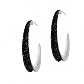 Earings silver 925 rhodium plated with glitter - WANNA GLOW