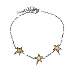 Bracelet in silver 925 black rhodium plated with enamel - Funky Metal